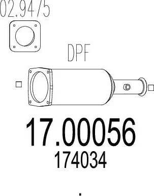 MTS 17.00056 - Filtr sadzy / filtr cząstek stałych, układ wydechowy intermotor-polska.com