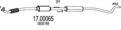 MTS 17.00065 - Filtr sadzy / filtr cząstek stałych, układ wydechowy intermotor-polska.com