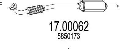 MTS 17.00062 - Filtr sadzy / filtr cząstek stałych, układ wydechowy intermotor-polska.com