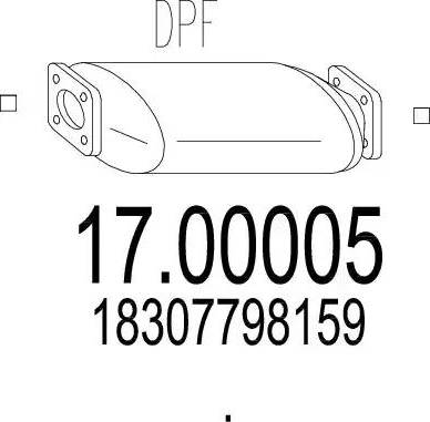 MTS 17.00005 - Filtr sadzy / filtr cząstek stałych, układ wydechowy intermotor-polska.com