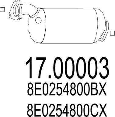 MTS 17.00003 - Filtr sadzy / filtr cząstek stałych, układ wydechowy intermotor-polska.com