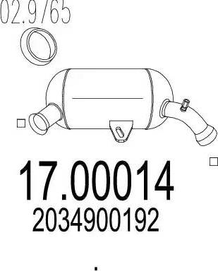 MTS 17.00014 - Filtr sadzy / filtr cząstek stałych, układ wydechowy intermotor-polska.com