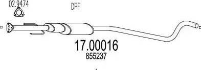 MTS 17.00016 - Filtr sadzy / filtr cząstek stałych, układ wydechowy intermotor-polska.com
