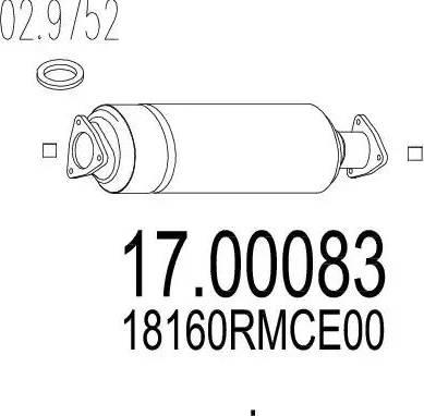 MTS 17.00083 - Filtr sadzy / filtr cząstek stałych, układ wydechowy intermotor-polska.com