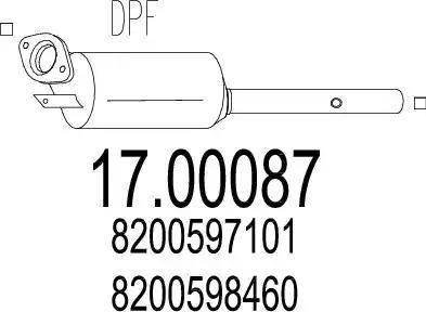MTS 17.00087 - Filtr sadzy / filtr cząstek stałych, układ wydechowy intermotor-polska.com