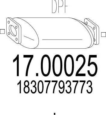 MTS 17.00025 - Filtr sadzy / filtr cząstek stałych, układ wydechowy intermotor-polska.com