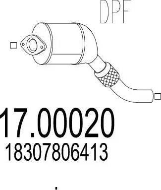MTS 17.00020 - Filtr sadzy / filtr cząstek stałych, układ wydechowy intermotor-polska.com