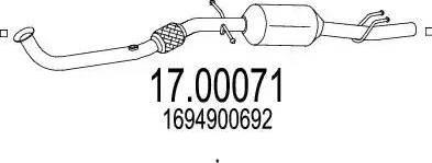MTS 17.00071 - Filtr sadzy / filtr cząstek stałych, układ wydechowy intermotor-polska.com