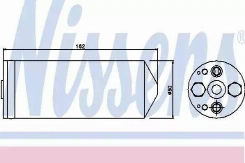Nissens 95345 - Osuszacz, klimatyzacja intermotor-polska.com