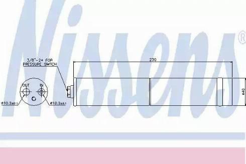 Nissens 95383 - Osuszacz, klimatyzacja intermotor-polska.com