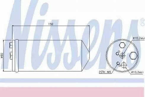 Nissens 95325 - Osuszacz, klimatyzacja intermotor-polska.com