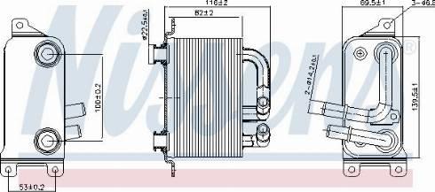 Nissens 90833 - Chłodnica oleju, automatyczna przekładnia intermotor-polska.com