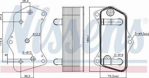 Nissens 91160 - Chłodnica oleju, automatyczna przekładnia intermotor-polska.com