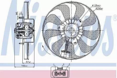 Nissens 85684 - Wentylator, chłodzenie silnika intermotor-polska.com