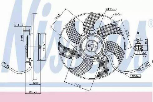Nissens 85680 - Wentylator, chłodzenie silnika intermotor-polska.com
