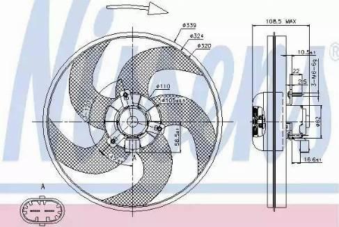 Nissens 85672 - Wentylator, chłodzenie silnika intermotor-polska.com