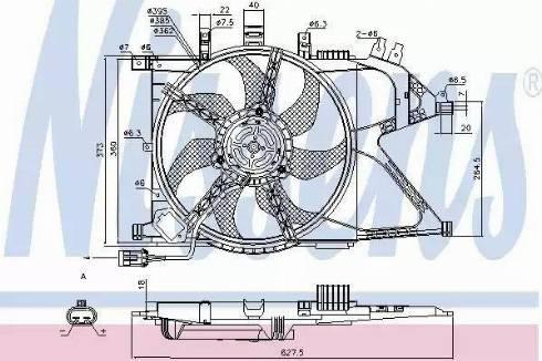 Nissens 85196 - Wentylator, chłodzenie silnika intermotor-polska.com