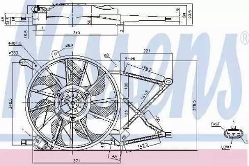 Nissens 85154 - Wentylator, chłodzenie silnika intermotor-polska.com