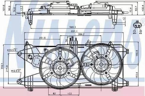 Nissens 85130 - Wentylator, chłodzenie silnika intermotor-polska.com