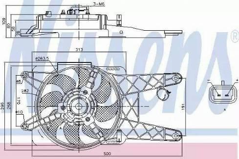 Nissens 85138 - Wentylator, chłodzenie silnika intermotor-polska.com