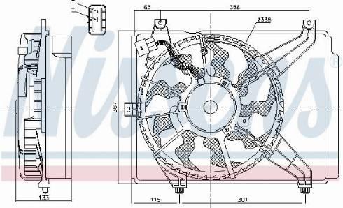 Nissens 85894 - Wentylator, chłodzenie silnika intermotor-polska.com