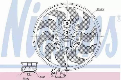 Nissens 85755 - Wentylator, chłodzenie silnika intermotor-polska.com