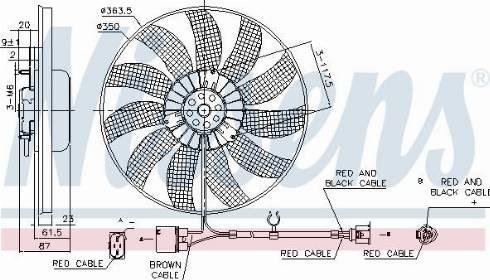 Nissens 85763 - Wentylator, chłodzenie silnika intermotor-polska.com