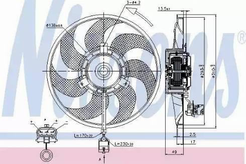 Nissens 85703 - Wentylator, chłodzenie silnika intermotor-polska.com