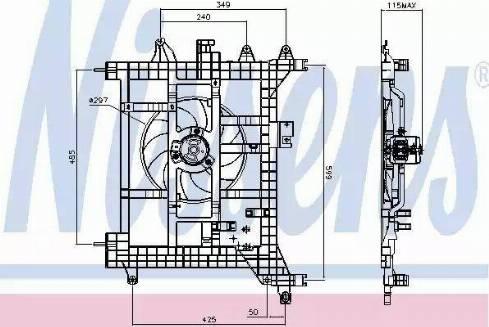 Nissens 85711 - Wentylator, chłodzenie silnika intermotor-polska.com