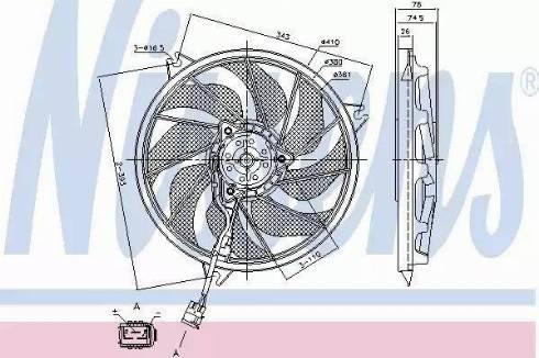 Nissens 85787 - Wentylator, chłodzenie silnika intermotor-polska.com