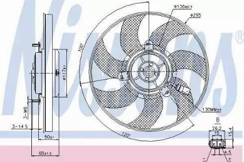 Nissens 85733 - Wentylator, chłodzenie silnika intermotor-polska.com