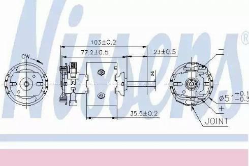 Nissens 87097 - Silnik elektryczny, dmuchawa wnętrza intermotor-polska.com
