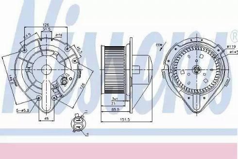 Nissens 87066 - Silnik elektryczny, dmuchawa wnętrza intermotor-polska.com