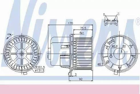 Nissens 87061 - Silnik elektryczny, dmuchawa wnętrza intermotor-polska.com