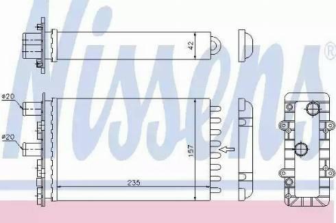 Nissens 73974 - Wymiennik ciepła, ogrzewanie wnętrza intermotor-polska.com