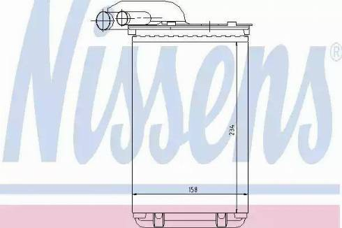 Nissens 73252 - Wymiennik ciepła, ogrzewanie wnętrza intermotor-polska.com