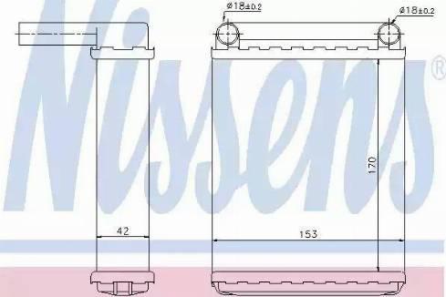 Nissens 72038 - Wymiennik ciepła, ogrzewanie wnętrza intermotor-polska.com
