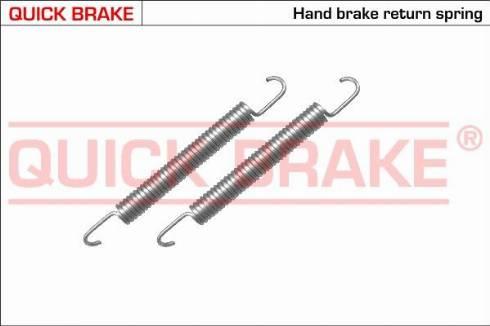OJD Quick Brake 105-0480 - Zestaw akcesoriów, szczęki hamulcowe hamulca postojowego intermotor-polska.com