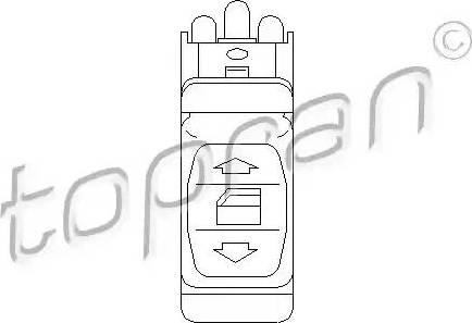 Topran 401 515 - Przełącznik, podnożnik szyby intermotor-polska.com