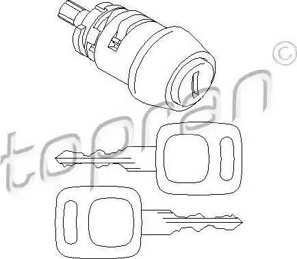 Topran 107 090 - Cylinder zamykany, zablokowanie zapłonu intermotor-polska.com