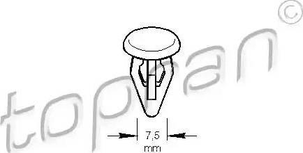 Topran 107 192 - Clip, listwa ochronna intermotor-polska.com