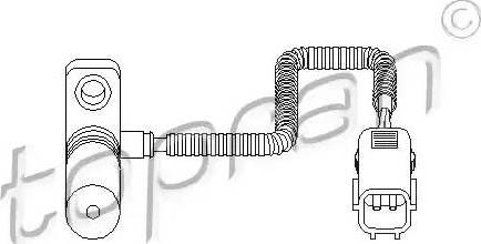 Topran 111 375 - Czujnik prędkożci obrotowej, automatyczna skrzynia biegów intermotor-polska.com