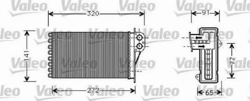 Valeo 812221 - Wymiennik ciepła, ogrzewanie wnętrza intermotor-polska.com